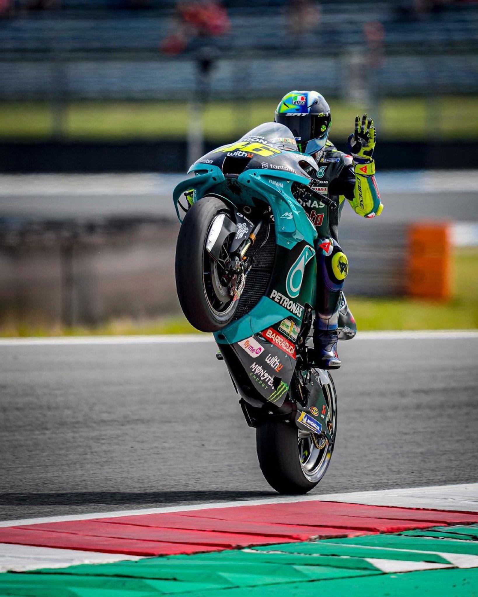Valentino Rossi standing.