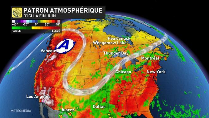 La canicule exceptionnelle se confirme sur le nord-ouest de l'Amérique entre demain et milieu de semaine prochaine. Il pourrait faire jusqu'à 44°C à Portland, 45°C dans la région de Kamloops au #Canada et une pointe à 48°C est modélisée dans l'Oregon par le modèle européen.
