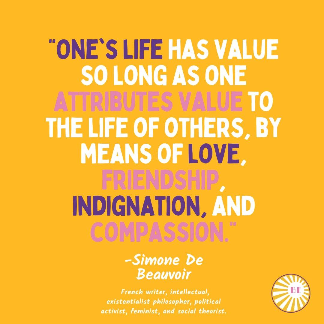Lessons on compassion for our communities, part 4.   #blessedexposure #HappySunday #NationalCancerSurvivorsDay #SimoneDeBeauvoir https://t.co/LxTqTYpbDt