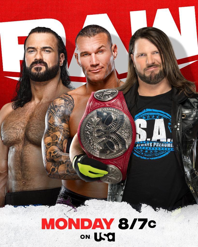 WWE Raw Preview (28/06/21): Triple Threat; Six-Woman Tag Match; Strap Match 34