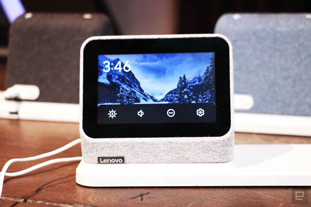 Lenovo's $90 Smart Clock 2 includes a wireless charging pad