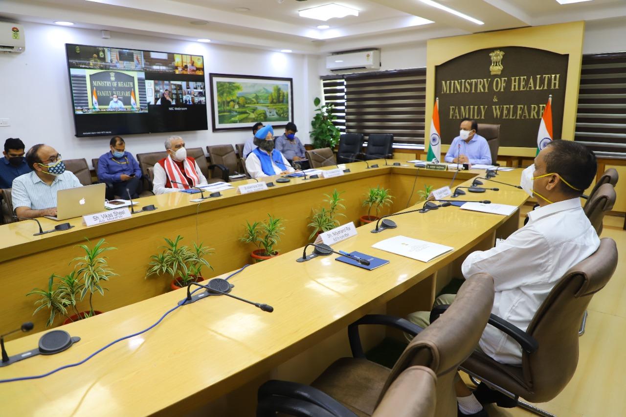डॉ. हर्षवर्धन ने कोविड-19 पर मंत्री समूह की 29वीं बैठक की अध्यक्षता की