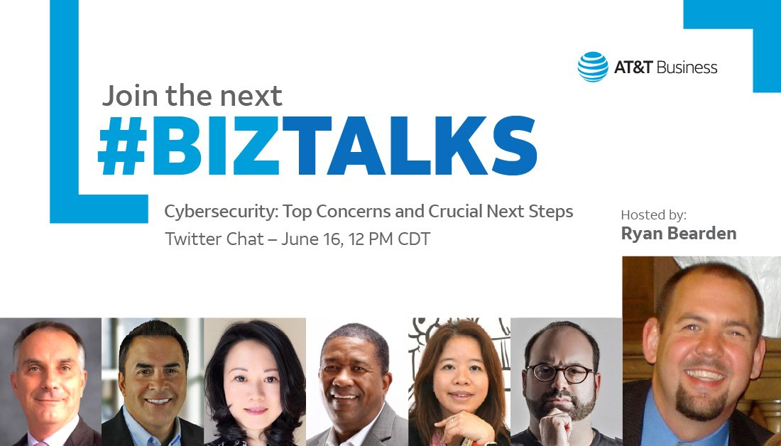 We are starting in 20 minutes Watch the hashtag #BizTalks to join...  Today at 12PM Central   #attinfluencer #cybersecurity #infosec #twitterchat  #ransomware