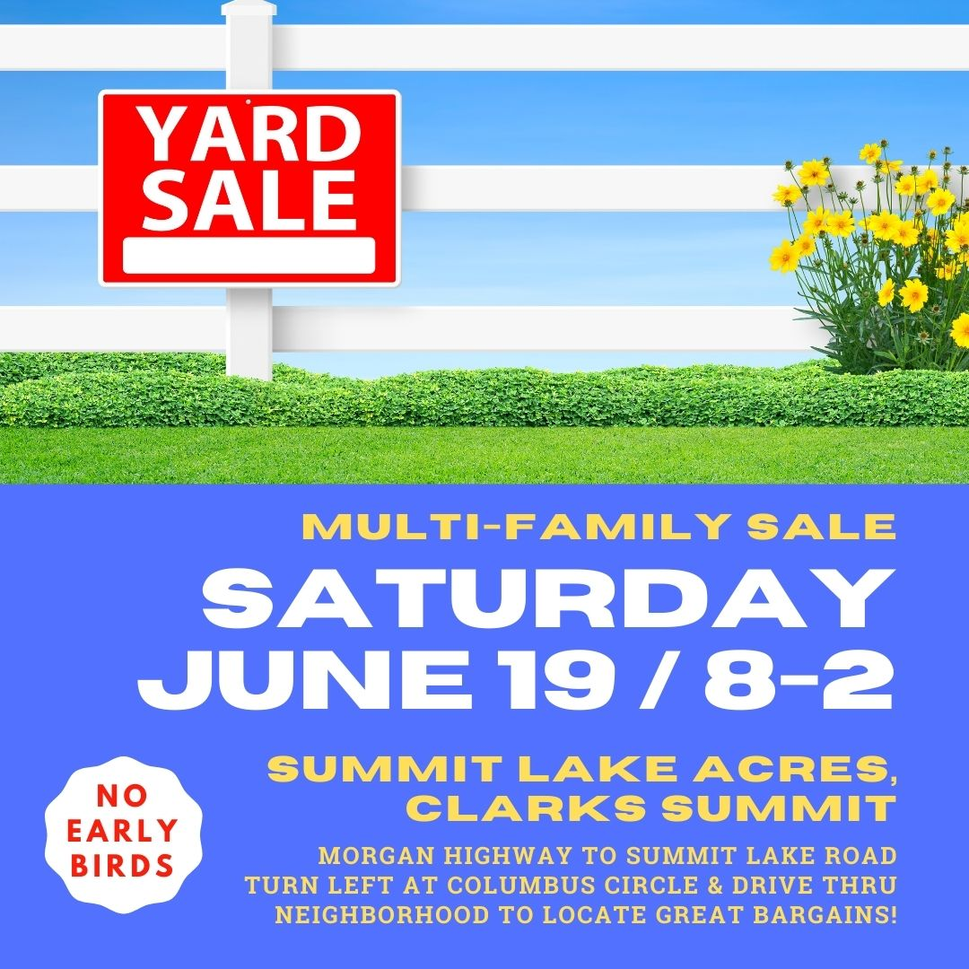 Let's pray for sunny weather for the #multifamily #yardsale on #Saturday! #bargains #treasures #clarkssummit @CometsAH #scranton #nepa https://t.co/IybZ7QXdBt