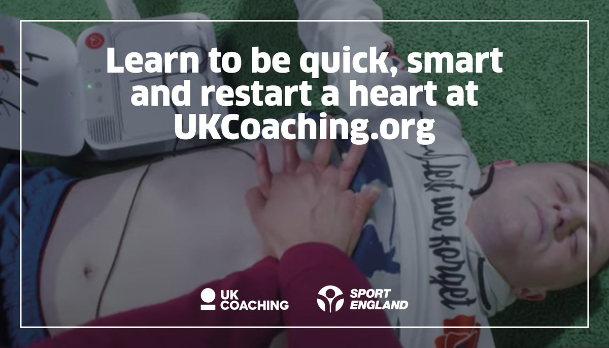 Would you know what to do if someone had a #SuddenCardiacArrest?  @_UKCoaching's free digital toolkit, which includes an interactive eLearning course, will equip you with the knowledge & confidence to know how to act quickly and save a life  https://t.co/0Es6LchOBW