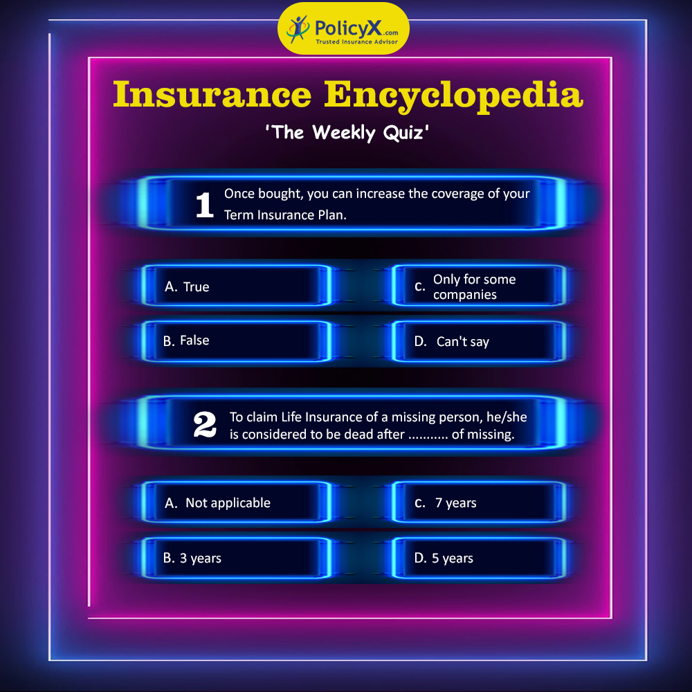 Be the first one to comment the right answers on Facebook & win a cash reward of Rs. 500.  Facebook Link: https://t.co/YmGPEDP29m  As mentioned earlier also, answers will be accepted only on Facebook.  #QuizTime #QuizKnock #insurance #insuranceagent #quiz #quizereum https://t.co/MBbK3GYaFp