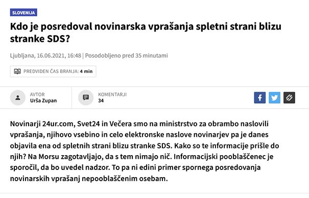 No, končno imamo nov standard - @24UR, spletna stran blizu @StrankaLMS; @rtvslo, spletna stran @strankalevica; @RTV_Slovenija, televizija v rokah @strankaSD. Pravzaprav niti ni slabo, če se pri vsakem mediju navede posrednega lastnika. Da se ne pozabi.
