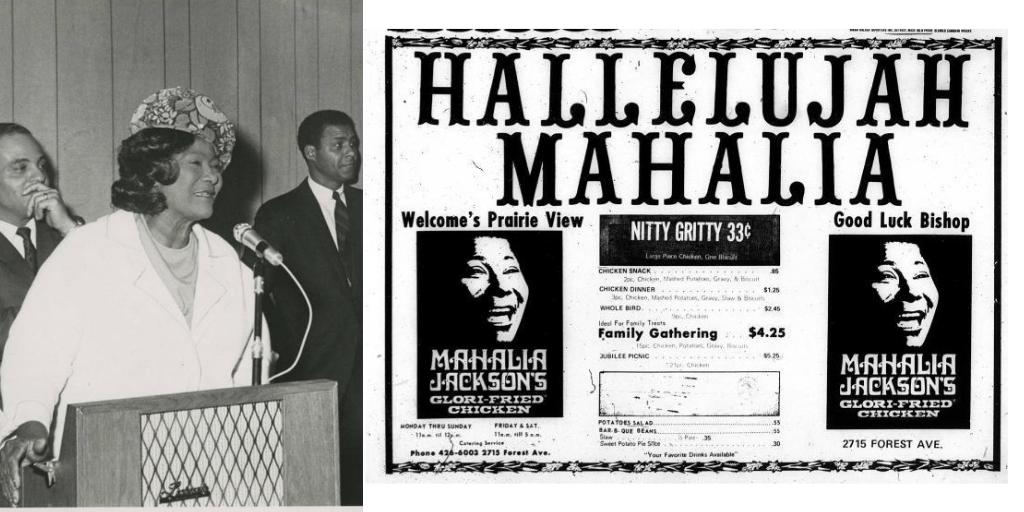 America's First Black Owned Restaurant Franchise: Mahalia Jackson's Glori-Fried Chicken  https://t.co/owukT90JXL https://t.co/oLsQuUXAQA