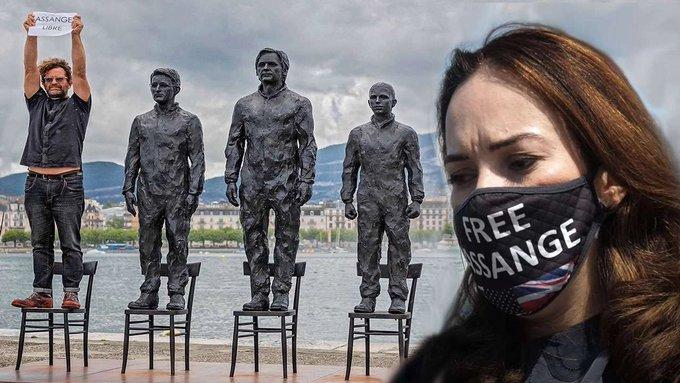 Geneva Calls to Free Assange #FreeAssangeNOW  #GenevaSummit #genevaSummit2021   Sign Now: https://t.co/JM0FPKrgq8 https://t.co/vZrriR2pYw