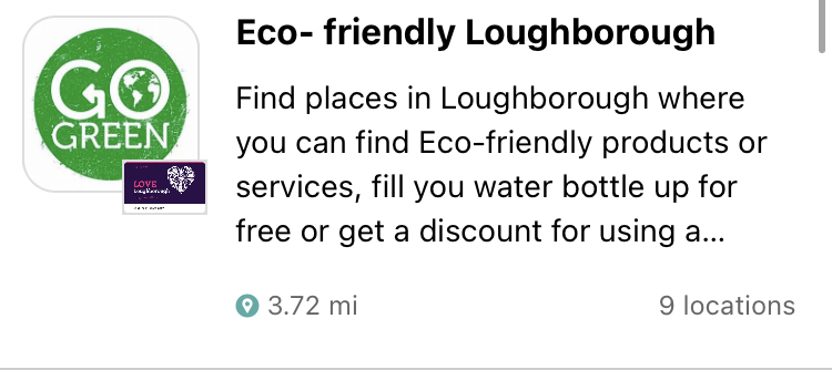 RT @lovelboro: It's #WorldRefillDay 🌎 Did you know we have a Eco- Friendly trail on the @loyalfree app that highlights where you can refill your water bottle for free and where offers discounts for taking your own pots for refills?!  Head to the LoyalFree app now to check it out