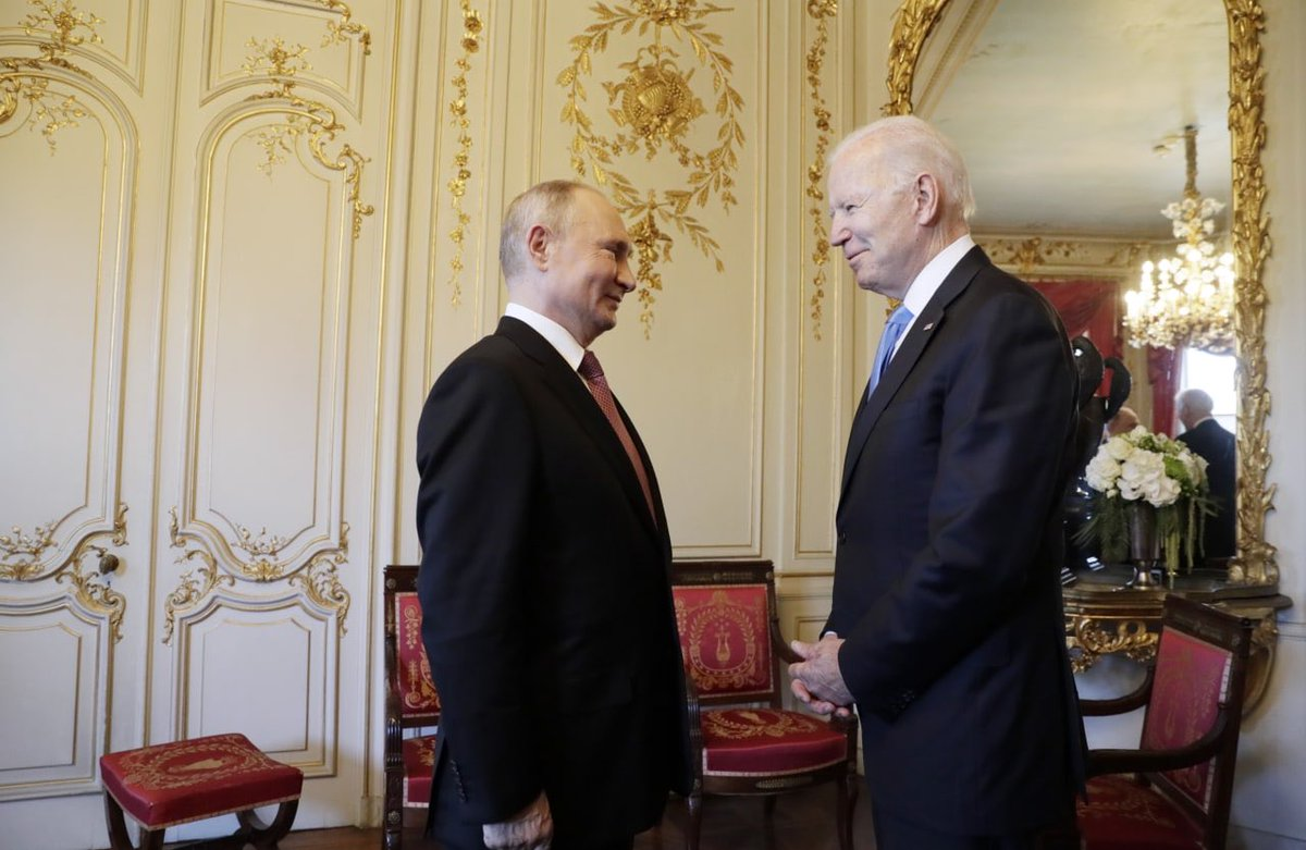 Photo of Pres. Biden and Russian Pres. Vladimir Putin from Russian state media: https://t.co/zAk6zcPle7