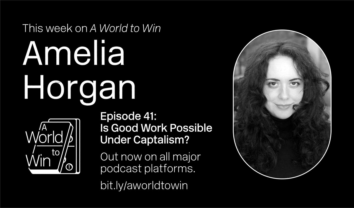 This week @graceblakeley speaks to @AmeliaHorgan, author of 'Lost in Work: Escaping Capitalism', about the changing nature of work, the impact of Covid, and whether it's possible for 'good work' to exist in a profit-driven world. 📉  Listen now ⬇️ https://t.co/XnlCEjzKp9 https://t.co/IKqmI2Adof