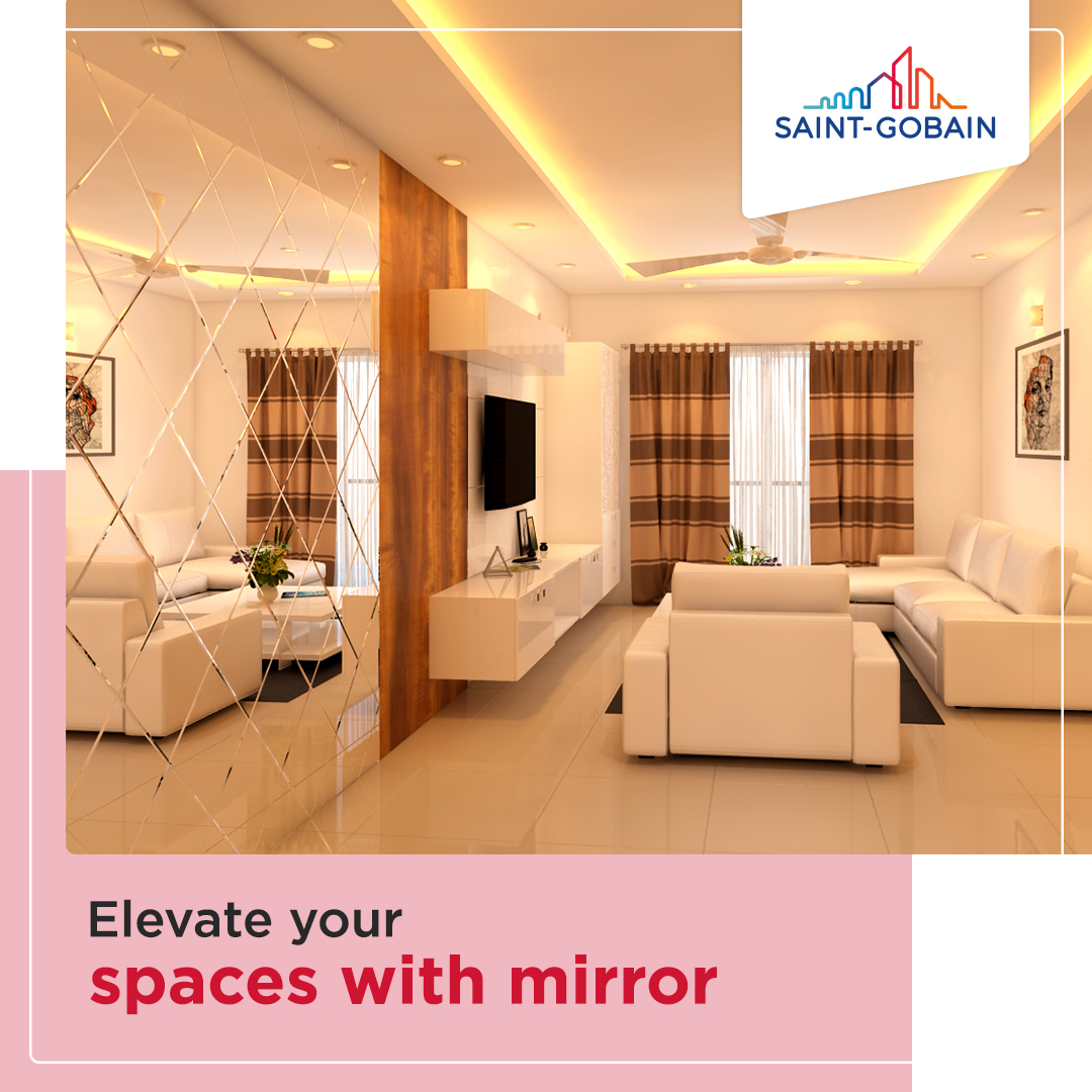 Mirrors help in highlighting your room's most beautiful features through reflections. You can give a modern touch to your spaces using mirror. Our SGG Mirrors are designed with truest precision and aesthetic value. Visit https://t.co/6WSq5IYsJ2 to know more.  #Mirror #SaintGobain https://t.co/E1AncG7N42