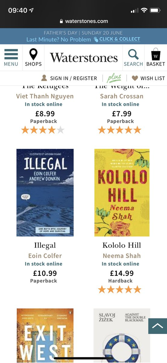 Lovely to see @Waterstones feature Kololo Hill here as part of a Refugee Week email. 💛  #kololohill  More books here https://t.co/ISzk66vsi0 https://t.co/o6RYW42Wtx