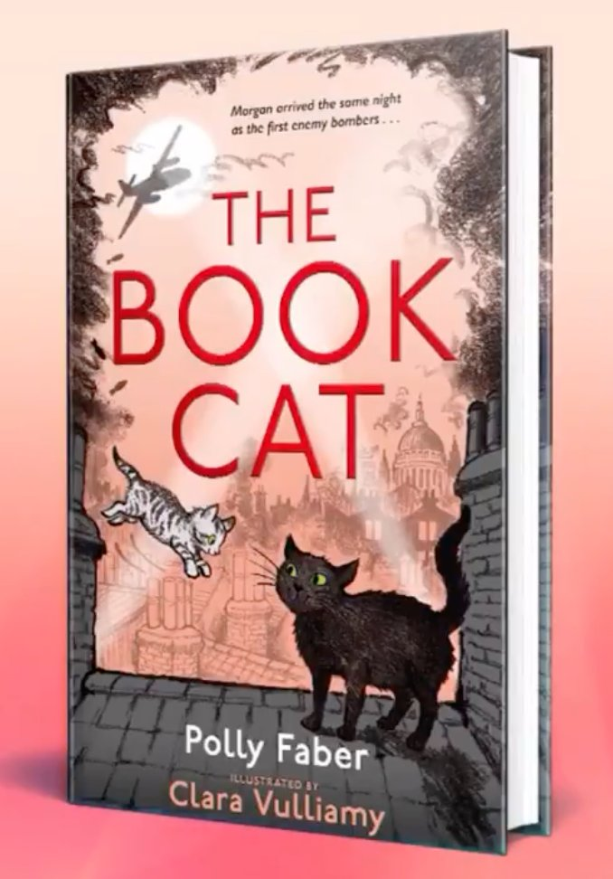 """.@FaberBooks is set to publish The Book Cat, a wartime tale based on real life story of Morgan, a cat who made his home at the Faber offices, written by @Pollylwh, and illustrated by @ClaraVulliamy, """"Warning: expect sooty pawprints all over the furniture""""! https://t.co/yuNZECtRza https://t.co/jepUOJpEyb"""