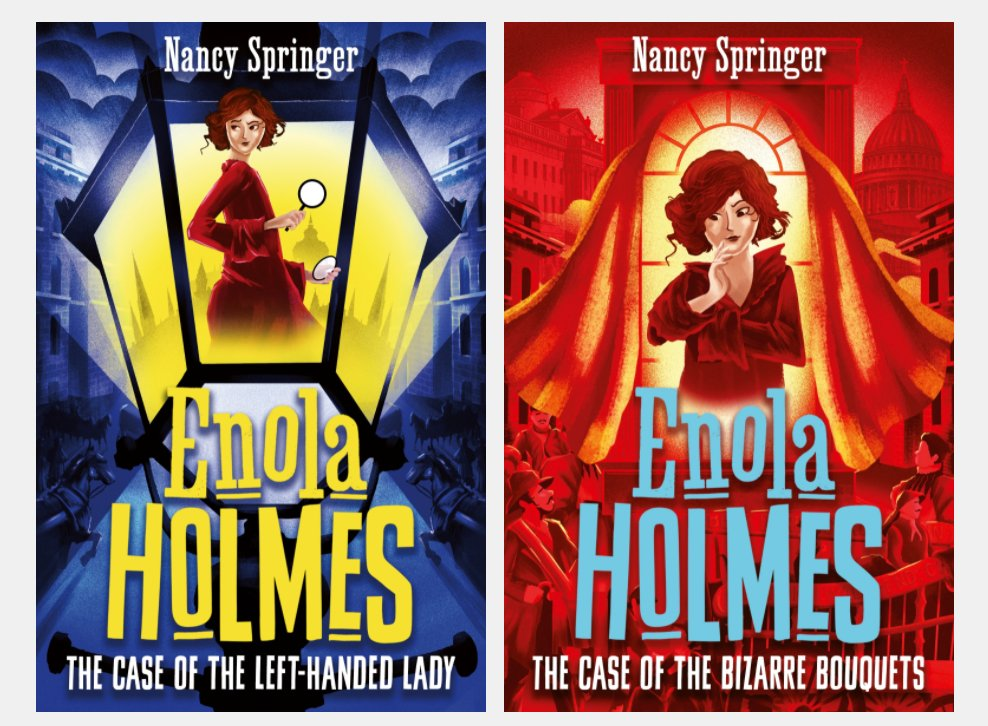 .@HotKeyBooksYA an imprint of @bonnierbooks_uk, will publish five further titles in @NancySpringer 's Enola Holmes series, which follows Sherlock Holmes' detective sister! See more here: https://t.co/3LmwWjIOOG https://t.co/4ZMJe1PKnA