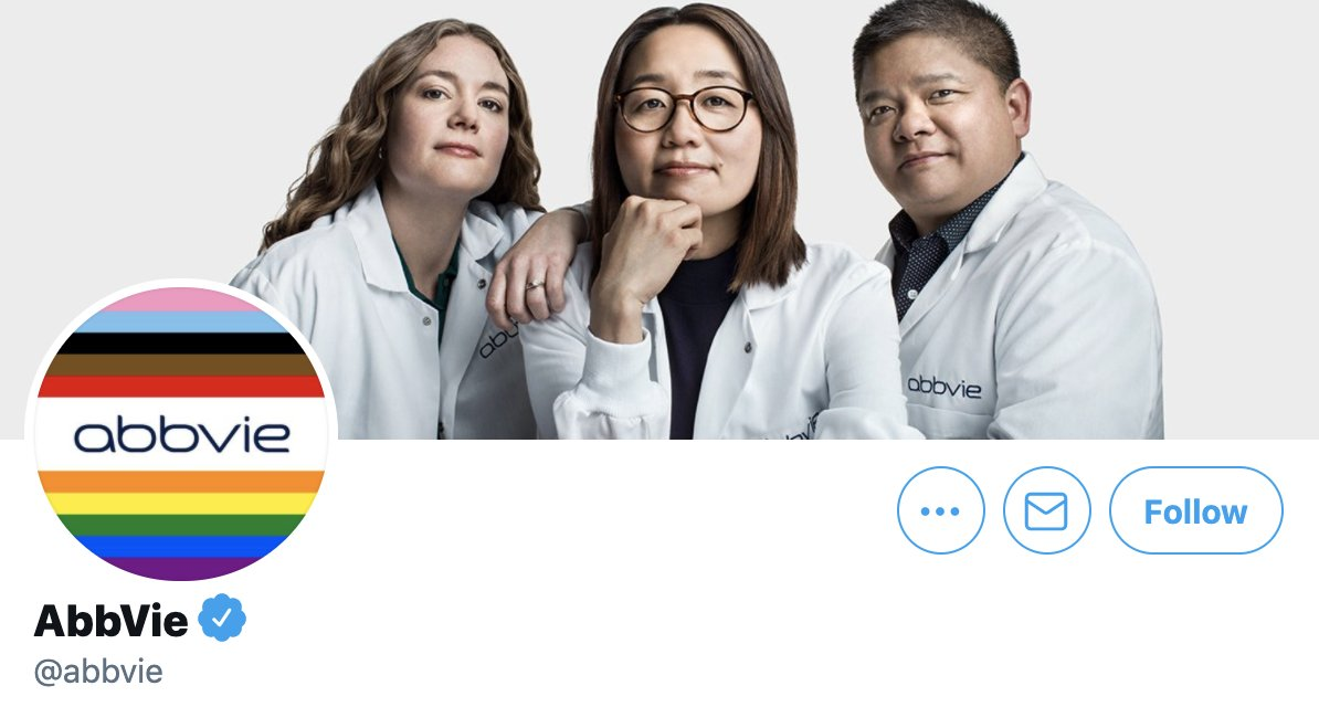 Okay, gotta admit that I was surprised to see Big Pharma sporting a festive #Pride logo. LESS surprised to see that AbbVie gave $131,000 to GOP Senators who are actively blocking the 🏳️🌈Equality Act🏳️🌈.  Oh yeah, and their arthritis treatment is $77,000/year 🤦🏾♀️ https://t.co/SNV6P3XeBj