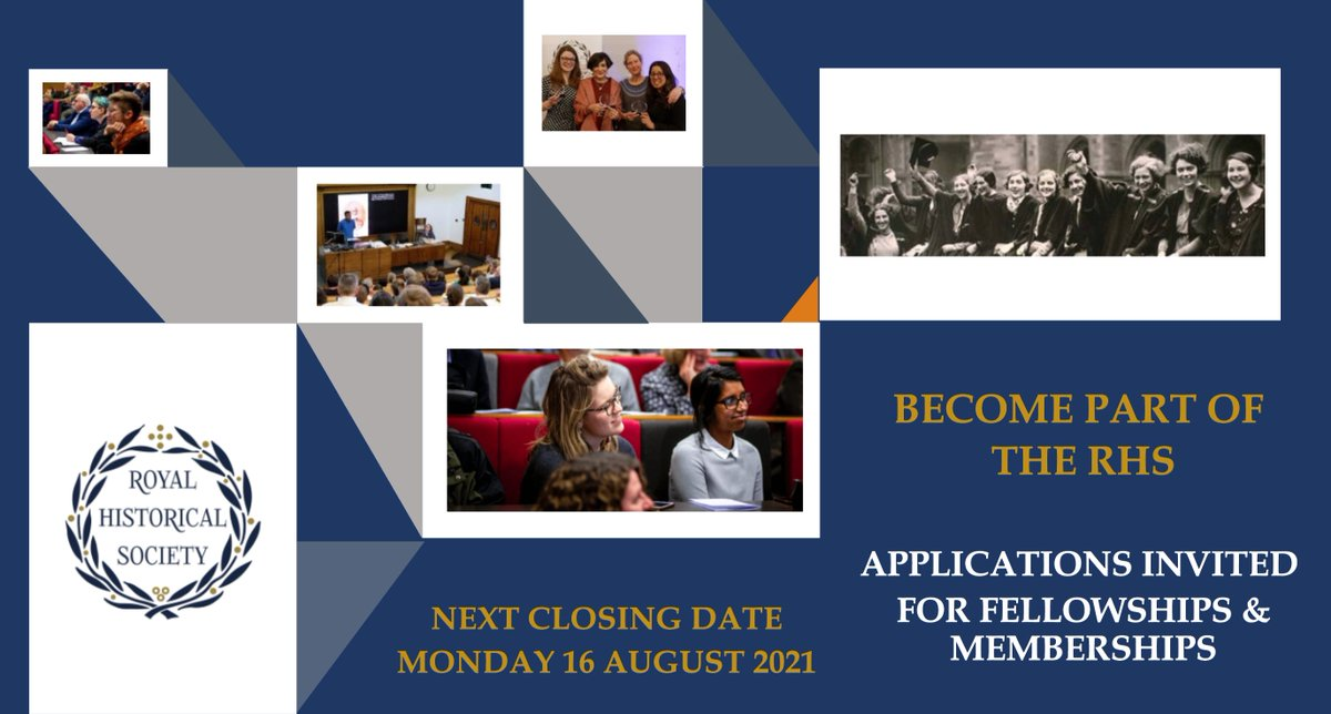 In our latest round, 213 historians (of all kinds, walks of life) were elected fellows & members of @RoyalHistSoc Welcome all! https://t.co/VvamlPWJQg  If you'd like to join them, the closing date for next round of applications is 16 Aug https://t.co/UqbunZF4BX  #twitterstorians https://t.co/poboaxFnce