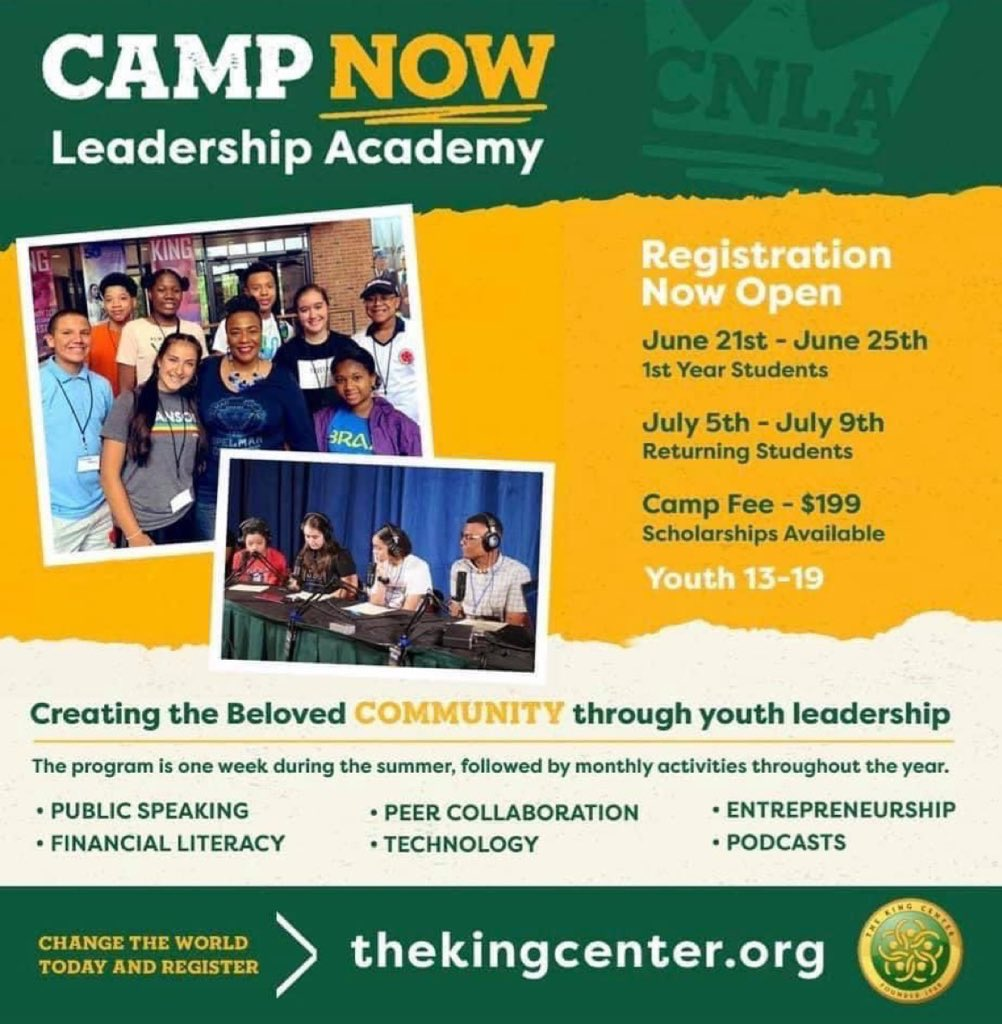 .@TheKingCenter's #Virtual Summer Youth Leadership Academy STARTS MONDAY! Visit https://t.co/oJtY7GOLpN to register today. Scholarships are available. #Leadership #Youth #Teens #Nonviolence #MLK #Strategy https://t.co/rFjCv8qArU