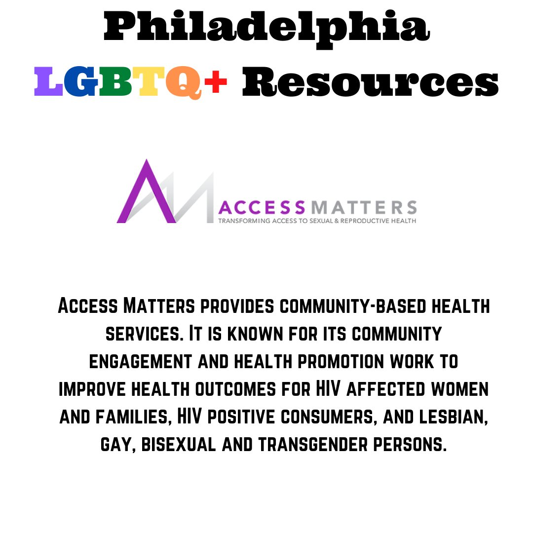 Philly is home to many wonderful organizations that provide support and community to LGBTQ+ people - here are just a few that you can connect with if you're looking for services or want to help out! #pridemonth #lgbtqia #lgbtq #philadelphia #philly https://t.co/pHl2YUEHUo