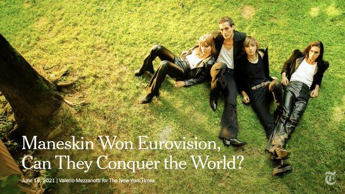"""Il New York Times incorona i Maneskin: """"Possono conquistare il mondo"""""""