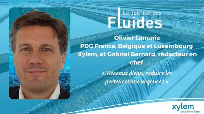 #Xylem dans la presse 💦📌   A retrouver dans Le Journal des Fluides, (p.36) « Réseaux d'eau, réduire les pertes est une urgence ! » 👉🏼 https://t.co...