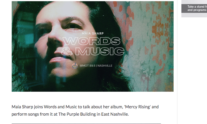 WOW!  Check out #SingerSongwriter @maiasharp on @WMOT_RootsRadio Words and Music with @JessieScott at https://t.co/0rGyoDVJnV Maia's stunning new album #MercyRising is out now!  #RootsRock #AAA #Americana #WomenInMusic @nprmusic #NashvilleMusic https://t.co/HeKETFfkV8