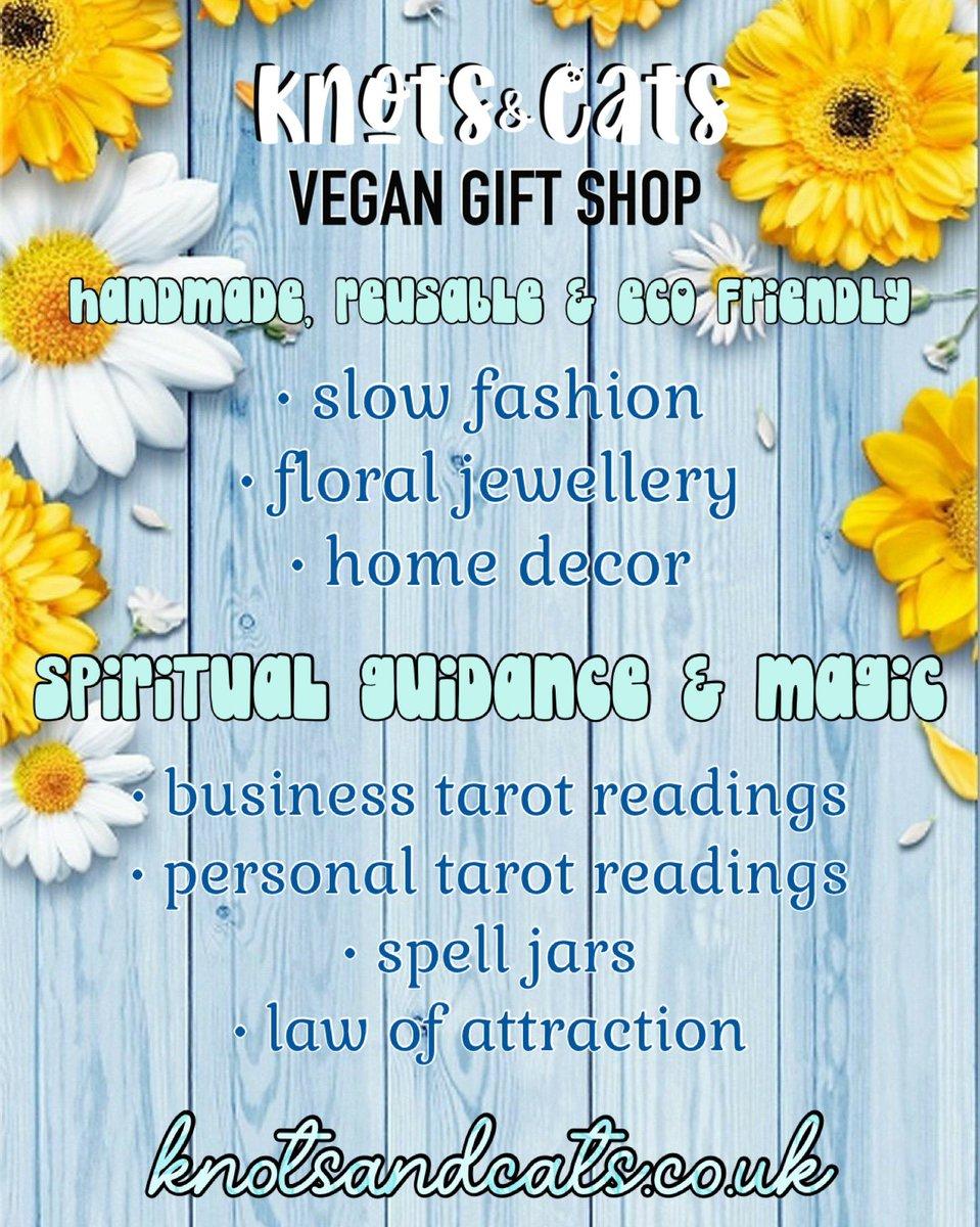 What's in store? Check out yourself! https://t.co/LkobxLxXwX   #handmade #vegan #veganuk #magic #tarot #jewellery #slowfashion #smallbusinessuk #handmadeinuk #crochet #crafts #ecofriendly https://t.co/GyDY8QlWOg