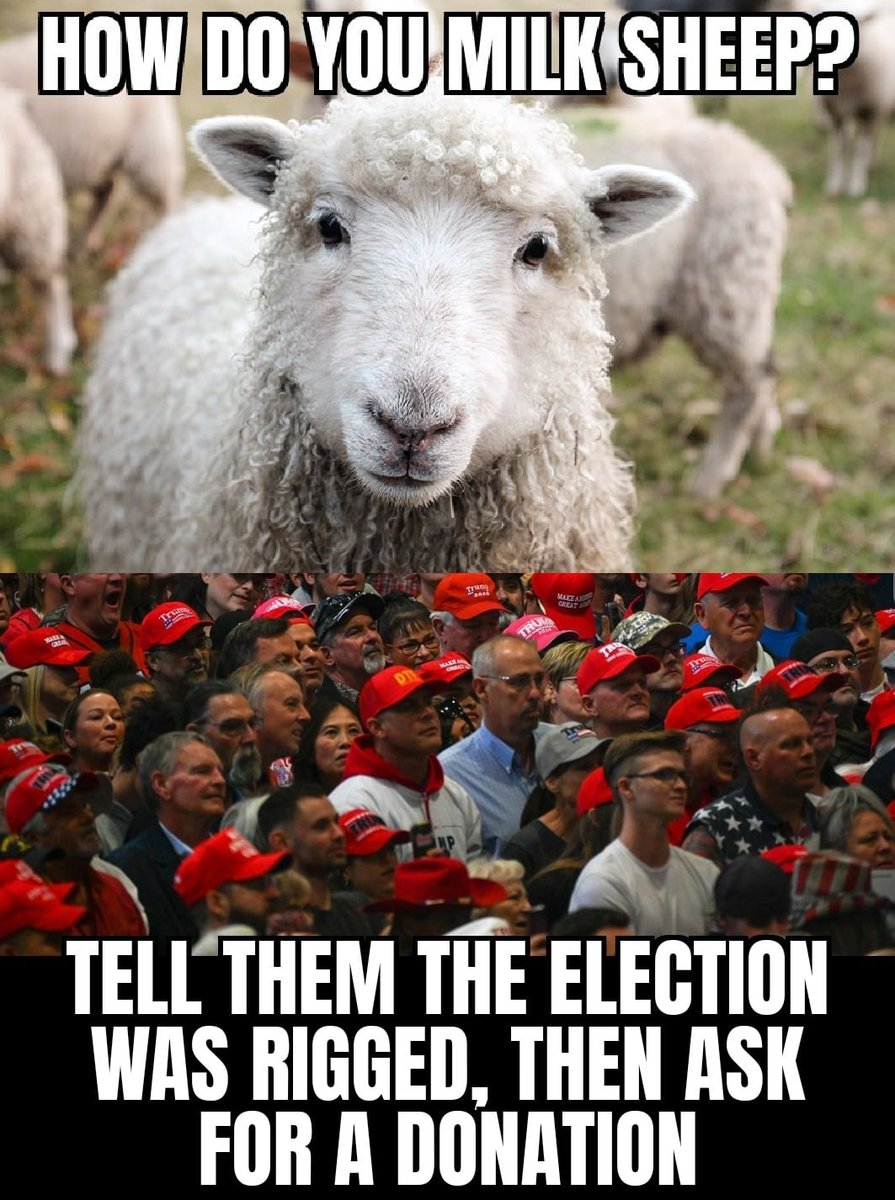 Did Biden try to Steal Your #VotingRights ..??  No..!! ~ publicans are using the #BigLie to #SuppressourVotes & to steal future Elections. ~ Meanwhile #TRUMP2024ToSaveAmerica is trending to #Scam #MAGA out of more $$$ ~ when are these folks going to #WakeUp https://t.co/fbh9bVcElr