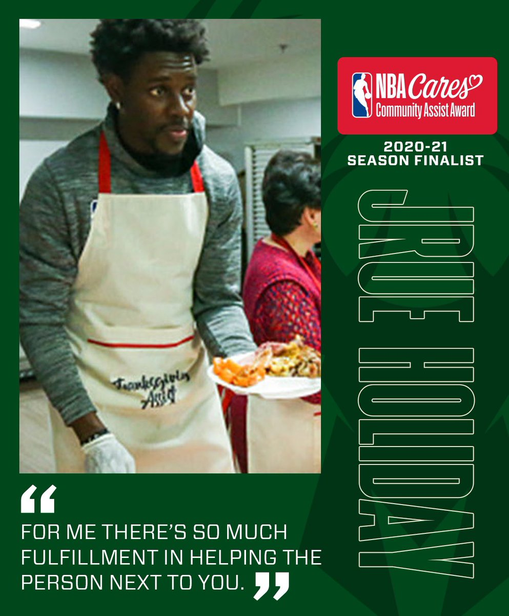 RT to vote #JrueHoliday for #NBACommunityAssist!! https://t.co/T95wfNF5Nc