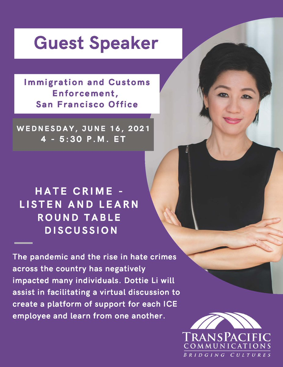 Today, I am incredibly grateful for opportunities to share and speak. This morning I participated in the MD VIP Forum and then facilitated a discussion with ICE San Francisco on Anti-Asian Prejudice and Hate Crimes. #AAPI #AsianAmerica #SpeakerDottieLi #StopAAPIHate https://t.co/h2TFzcj9BV