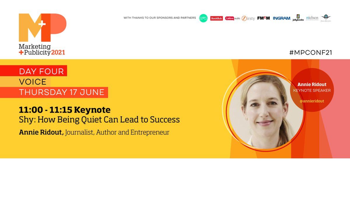 That's all for today's #MPConf21 but we'll be back tomorrow morning at 11am with our Day Four Keynote Speaker @annieridout on Shy: How Being Quiet Can Lead to Success! https://t.co/WoqvEuzlSP