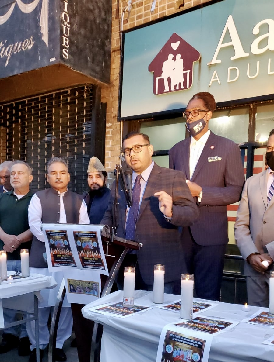 We take solace in our communities, in our faith.  Deputy Public Advocate @Kashif4Progress joined advocates and elected officials in Queens and Brooklyn to honor the Afzaal family—killed in an act of insidious, despicable, hatred in Canada—and reject Islamophobia. #StopAAPIHate https://t.co/NtRs70mupq