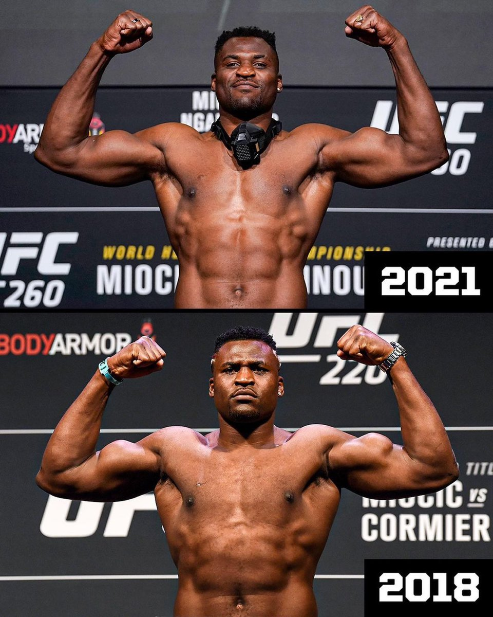 👆 UFC 260 & UFC 220 👇   Same weight, but different shapes 💪 https://t.co/P8KCp77Khm