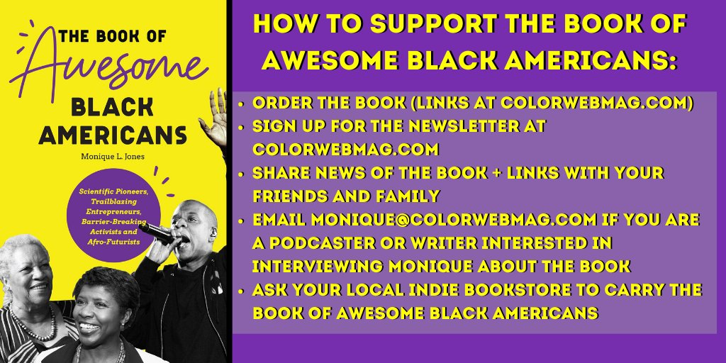 As The Book of Awesome Black Americans rises up the https://t.co/CZ7XyQ01IJ New Releases & Best Seller lists, here's how you can support! Link to buy: https://t.co/zTwPR2CL2H #AfricanAmerican #BlackAmerican #author #Black #BlackHistory #books #booksoftwitter #authorsoftwitter https://t.co/K24Faw6Jv8