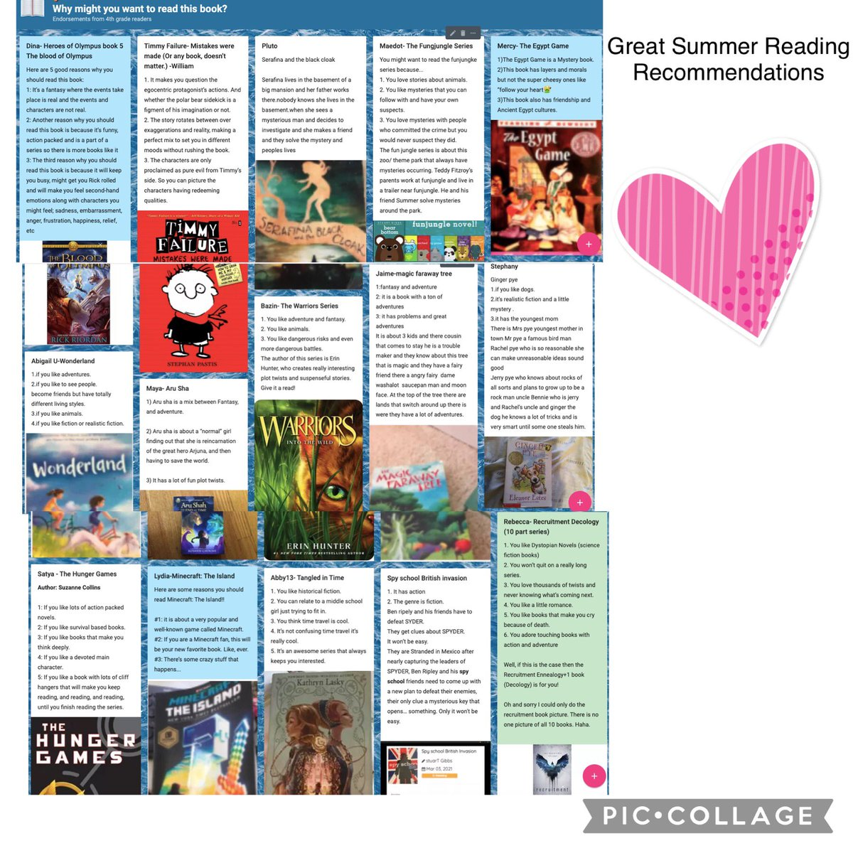 أعرف ما أريد أن أقرأه هذا الصيف بعد لقائي مع طلاب الصف الرابعAPS'> @ كامبلAPSالذين شاركوا كتابًا رائعًا قرأوه هذا العام ووضعوا أهدافًا للقراءة في الصيف.APSمحو الأمية '> @APSمعرفة القراءة والكتابةAPSموهوبون> @APSرعاية الموهوبين @ OConnor4_5 MsRoseTweets mskleif bibliobunny https://t.co/4IEidAObp