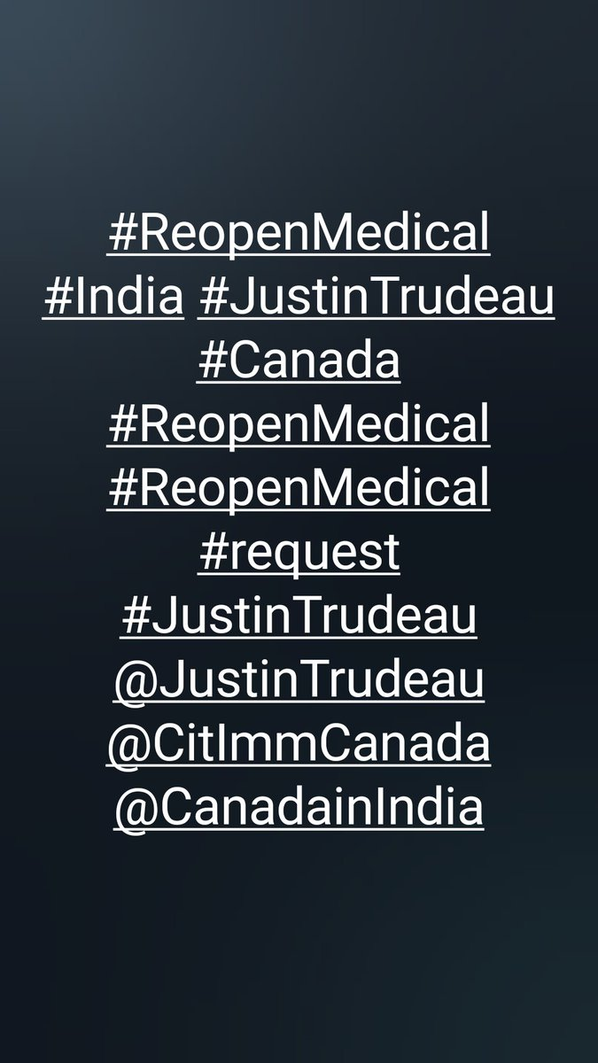 #ReopenMedical #student #internationalstudents #India #Canada #JustinTrudeau #ReopenMedical #Test #ircc #canadainindia @JustinTrudeau @CitImmCanada @CitImmCanFR @CanadainIndia https://t.co/XzWiCvLmKI