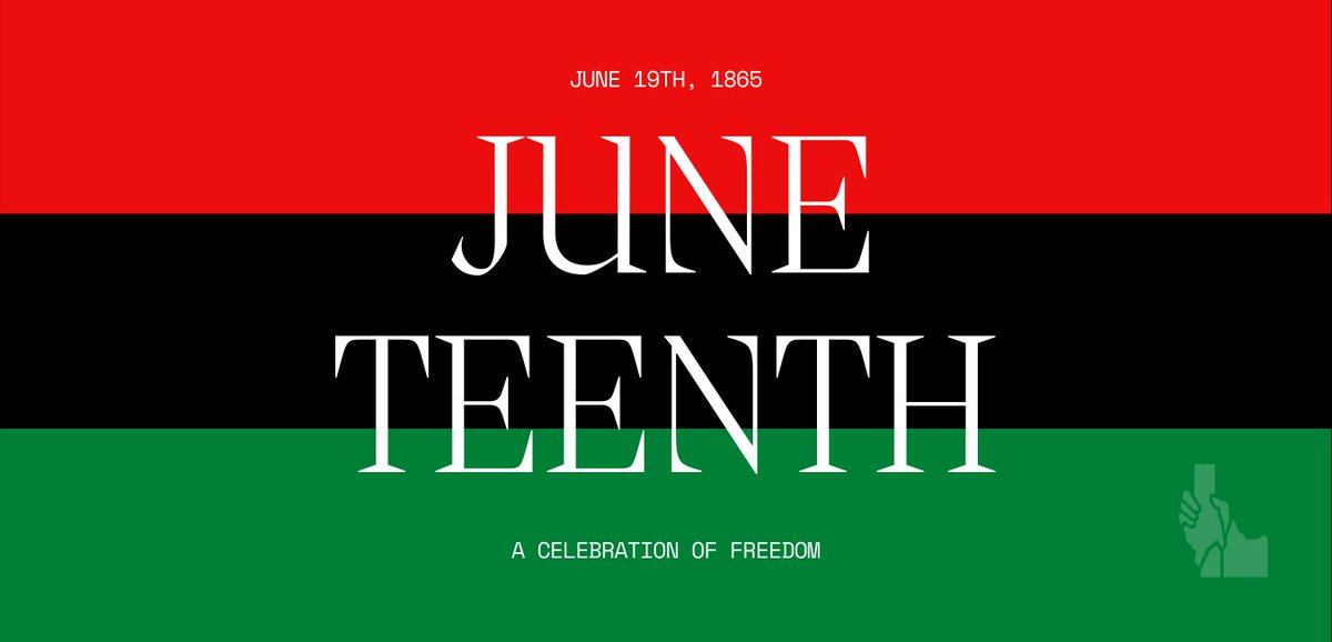 Juneteenth is this Saturday!   ⬇️ View the guest column written by Austin Foudy, our Community Impact and Outreach Director.   Remember to follow @JuneteenthBoise   https://t.co/BDd4b6X0Ef  #Juneteenth #InclusiveIdaho #BlackHistory #Boise #Idaho  Image description in alt text https://t.co/zH8WNB7Uom