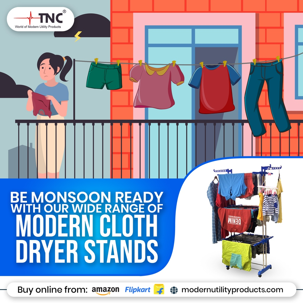 Now no need to stalk the clouds to dry your clothes... Choose from a wide range of our Clothes Drying Stands today!  #rebranding #brand #india #quality #startofsomethingnew #home #shoes #homedecor #clothes #tnc #covid #cleaning #laundry #wash https://t.co/xwnLgaTufR