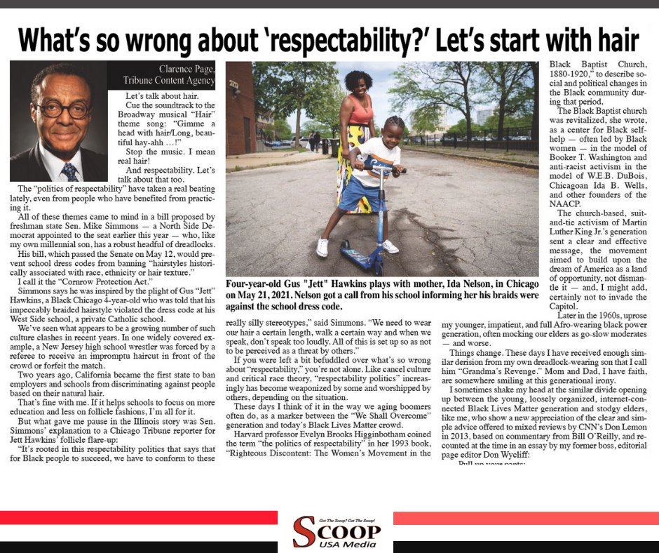 What's so wrong about 'respectability?' Let's start with hair  Read: https://t.co/IPP5s6d0qe  . . . . #blackmedia #localnews #community #scoop #news #africanamericans #philadelphia #scoopusamedia #philly https://t.co/X1DwS2rndC