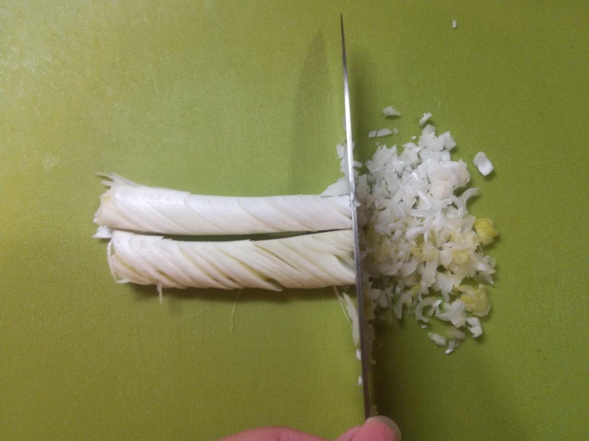 もっと広がってほしいライフハック!白ネギのみじん切り方法!