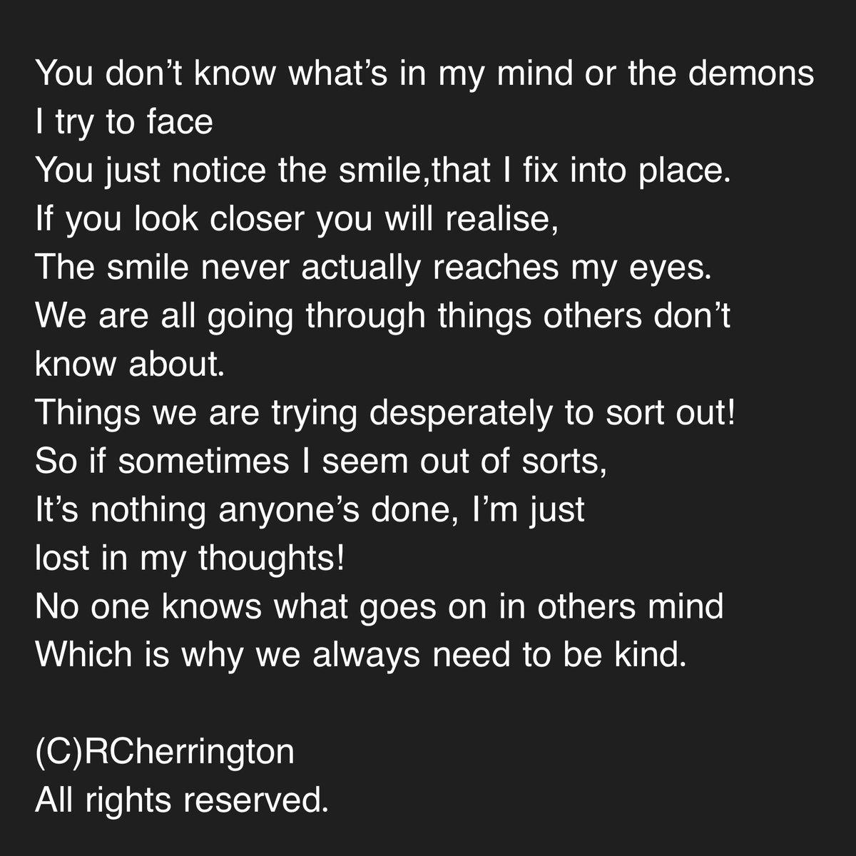 #poetsoftwitter #bekindalways #mentalhealthmatters https://t.co/34PeEQ0PKy