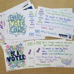 Image for the Tweet beginning: 📬 30 #PostcardsToVoters yesterday and