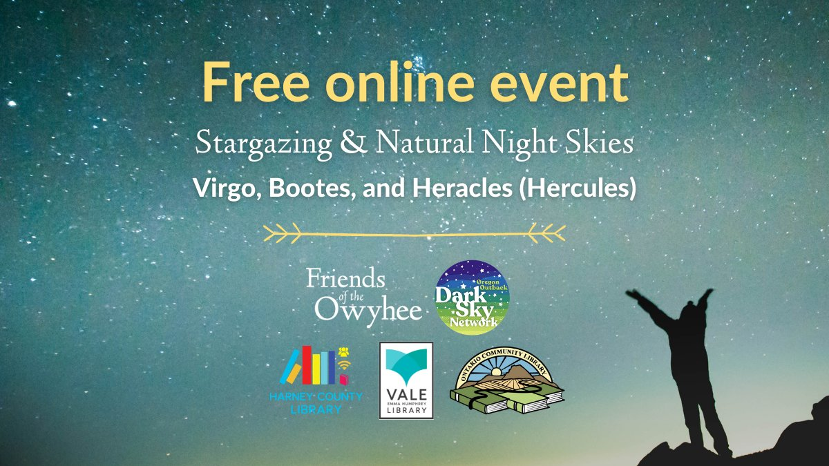 Last chance to sign up for our #stargazing class tonight! This class will be less introductory material, so if you're ready for a bit more advanced lesson, get signed up today! We're looking at #Virgo, #Bootes, and #Hercules! https://t.co/RTqYx7T55f