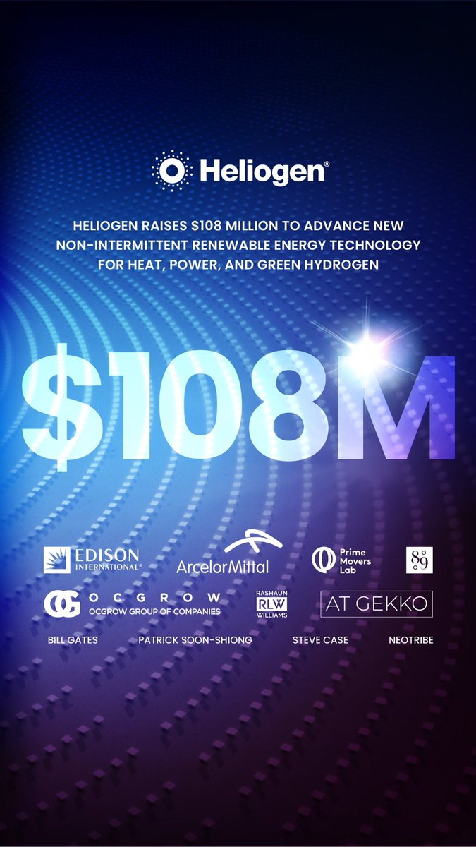 test Twitter Media - Congratulations to #solar concentration startup @heliogeninc and their #ESG venture partner AT GEKKO on this $108m round.  We're pleased to be alongside some of the world's leading investors in Heliogen's important mission.  https://t.co/ZuX9nJiBrL https://t.co/KUqnYEO3gb