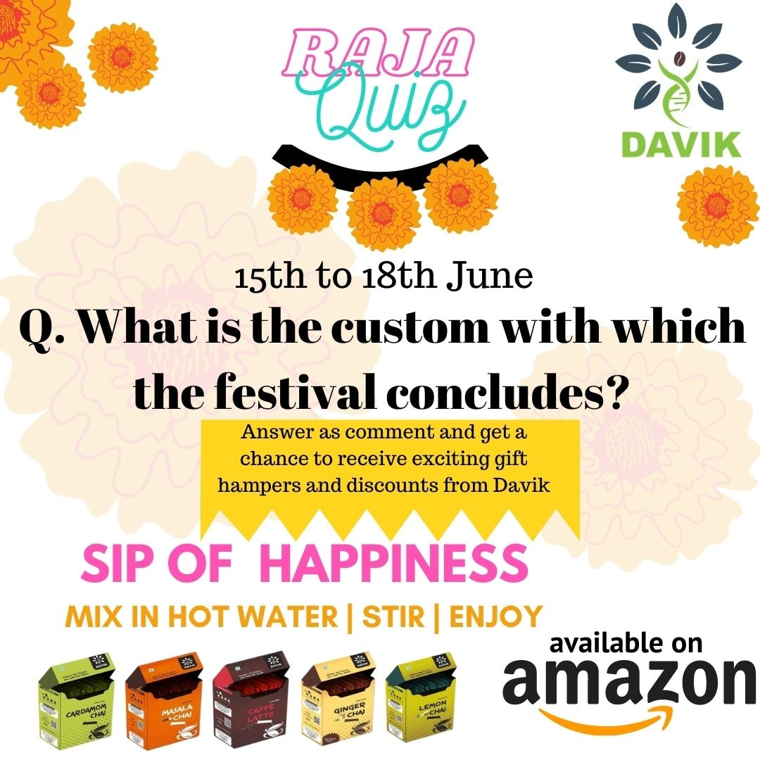 To win gift hampers from Davik the only thing you need to do is answer the question as a comment. So DO IT!  We hope YOU are the one to win it.   #contest #quiz #raja #festival #celebration #davik #thrdavikexperience #lovetea #instantpremix https://t.co/x6g8tCSvuN