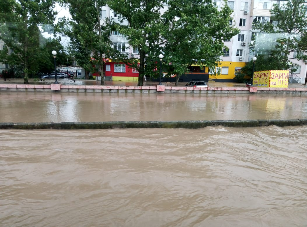 Crimean City Goes Under the Water