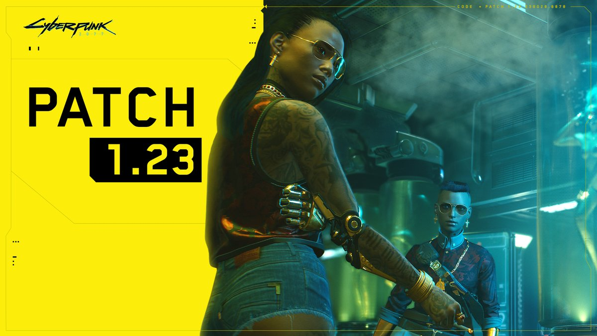 Patch 1.23 is available on all platforms!  The list of changes for this update is available here: https://t.co/hRefg6ZLcr https://t.co/CnEOei6fZs