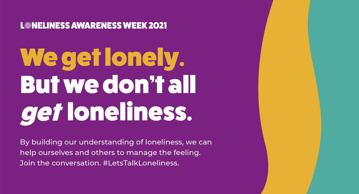 The theme of this year's #LonelinessAwarenessWeek2021 is acceptance. Loneliness is a natural human emotion, we need to remove the stigma and shame surrounding it.    Grow your understanding of loneliness here: https://t.co/8p5YREyoha  #LetsTalkLoneliness @marmaladetrust