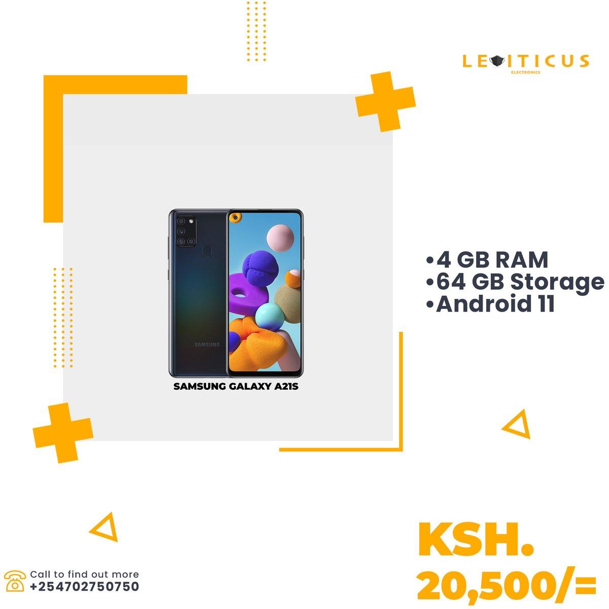 Samsung smartphones are available at amazing prices only at Leviticus Electronics. Get the Galaxy A21s at only Ksh.20500/=  #UkoraMahakamani #gainwithmchina #Paidpartnershipwithdiageo #LG100Club #IkoKaziKE #Tbt #Nairobi #technology #dealske #dealsinkenya https://t.co/Ks6P5SJkKp